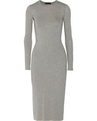 Vestito longuette grigio