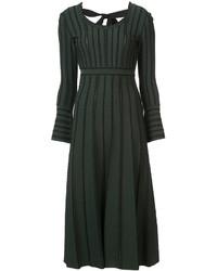 Vestito longuette lavorato a maglia verde scuro di Fendi