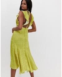 Vestito longuette lime di ASOS DESIGN