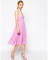 Vestito longuette rosa