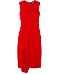 Vestito longuette rosso di Alexander McQueen