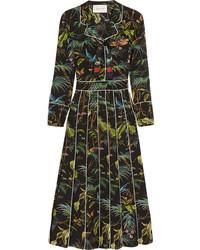 Vestito longuette stampato nero