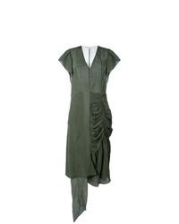 Vestito longuette verde oliva di Marni