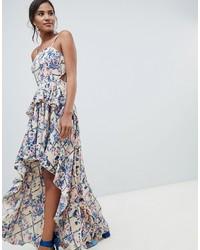 cheaper 603c2 b704d Vestiti lunghi a fiori bianchi e blu da donna | Moda donna ...