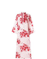 Vestito lungo a fiori bianco e rosso di Ermanno Scervino 259f793447d