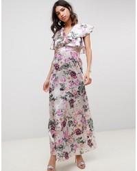 Vestito lungo a fiori bianco di ASOS DESIGN