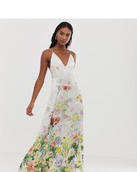 Vestito lungo a fiori bianco di Asos Tall