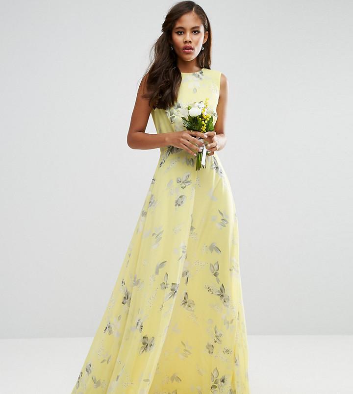 big sale 73202 ac911 €80, Vestito lungo a fiori giallo