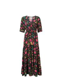Vestito lungo a fiori multicolore di Figue