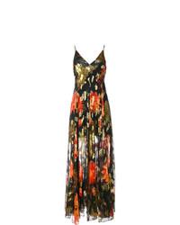 Vestito lungo a fiori multicolore di Haney