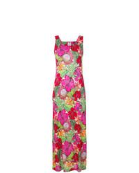 Vestito lungo a fiori multicolore di Ultràchic