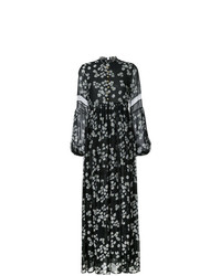 Vestito lungo a fiori nero e bianco di Macgraw