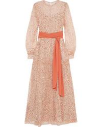 Vestito lungo a fiori rosa