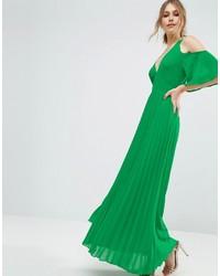 brand new b7ce8 a82b4 Vestiti lunghi verdi da donna | Moda donna | Lookastic