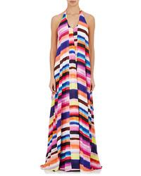 info for 3f49c 1a6c2 Vestiti lunghi a righe orizzontali multicolori da donna ...