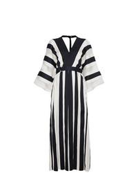 best website 352c9 d5809 Vestiti lunghi a righe verticali bianchi e blu scuro da ...