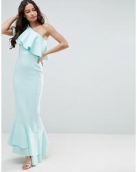 new product 6a9f4 c5093 Vestiti lunghi con volant azzurri da donna | Moda donna ...