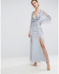 finest selection a17b3 ece03 Vestiti lunghi decorati azzurri da donna | Moda donna ...