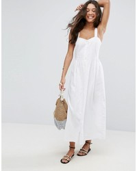 951ce53c7f57 Vestiti lunghi di lino bianchi da donna