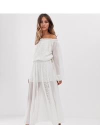 outlet store 53037 9cc8c Vestiti lunghi di pizzo bianchi da donna   Moda donna ...