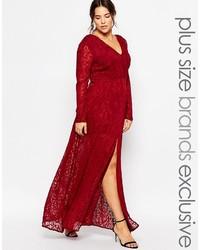 newest ac5bc 3b67d Vestiti lunghi di pizzo con spacco rossi da donna | Moda ...