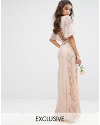 best website 7fbdd 94a35 Vestiti lunghi di pizzo beige da donna   Moda donna   Lookastic