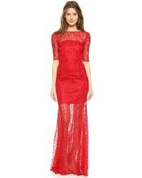 newest 6aede 0752f Vestiti lunghi di pizzo rossi da donna   Moda donna   Lookastic