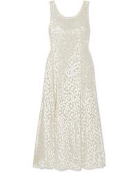 Vestito lungo di velluto bianco