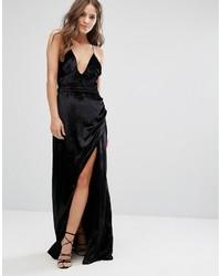 0972693f26ec Vestito lungo di velluto nero di The Jetset Diaries