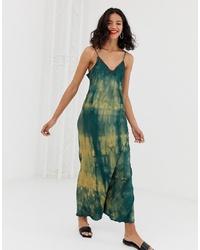 Vestito lungo effetto tie-dye verde scuro di Other Stories
