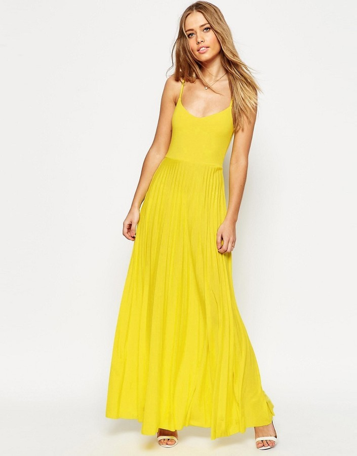 huge selection of 3b45f 06576 Vestito lungo giallo di Asos