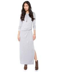 Vestito lungo grigio