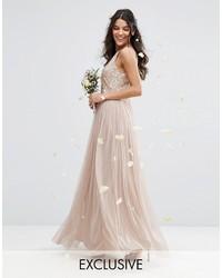 best sneakers 419cb 0b3ab Vestiti lunghi in tulle rosa da donna | Moda donna | Lookastic