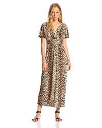 modellazione duratura nuova stagione ultimo design Vestiti lunghi leopardati marroni da donna | Moda donna ...