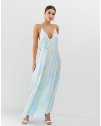 Vestito lungo stampato azzurro di ASOS DESIGN