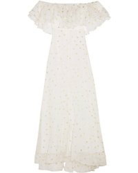 Vestito lungo stampato bianco di Temperley London