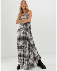 Vestito lungo stampato grigio di ASOS DESIGN