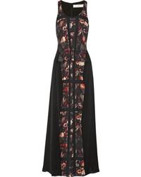 Vestito lungo stampato nero