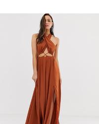 Vestito lungo terracotta di ASOS DESIGN