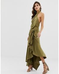 Vestito lungo verde oliva di ASOS DESIGN