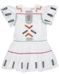 Vestito ricamato bianco