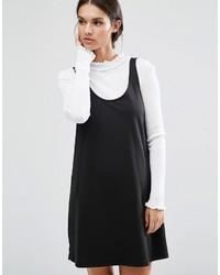 Vestito scamiciato nero di Asos