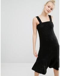 Vestito scamiciato nero di Monki