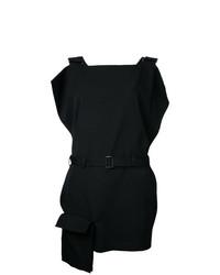 Vestito scamiciato nero di Yohji Yamamoto