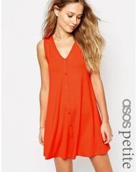 Vestito scampanato arancione