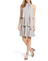 Vestito scampanato grigio