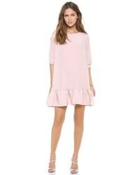 Vestito scampanato rosa