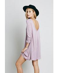 Vestito scampanato viola chiaro