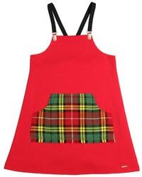 Vestito scozzese rosso