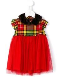 Vestito scozzese rosso di Junior Gaultier